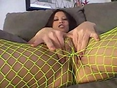 Jayna Oso Fucks In Her Fishnet Stockings