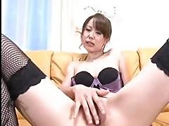 Junko Hayama Gets Her Legs Spread And She Fingers Her Pussy