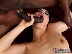 Katsuni In hot sock get her ass and pussy rammed by black guy