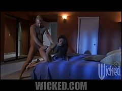 Kaylani Lei Shaking Her Perfect Asian Ass Over a Hard Cock