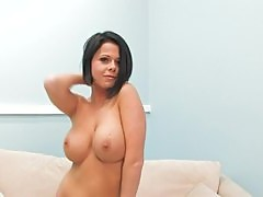 Busty Teen Brunette Loni Evans Pleases Her Pink Pussy With A Dildo