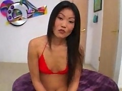 Lucy Lee Asian stripper sandwiched in threesome