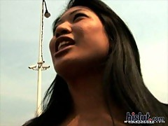 Lyla Lei is on her knees