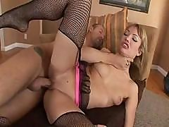 Maya Hills Plays With A Cock In Her Mouth And In Her Pussy