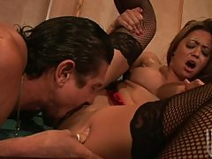 Hot Asian Brunette Mia Lelani Gets Fucked and Facialized By a Big Cock