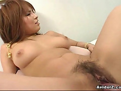 Busty girl Arisa Minami nailed hard!