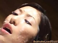 Crazy Asian Babe Rei Shina Gets Her Face Part1