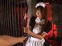Horny Maid Yuu Asakura Masturbates in a Sex Dungeon