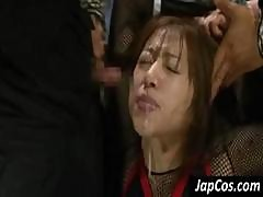 Asian Cutie Is Tied Up And Abused And Sucks Master's Cock Deep