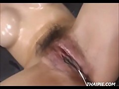 Hairy Wet And Messy Asian Pussy