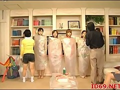 Japanese bound chicks toyed