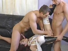 Naughty Asian Gets Involved In A Hot European Bi Sexual Threesome