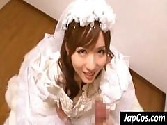 Japanese Bride Goes Down On His Cock And Gives A Pov Blowjob