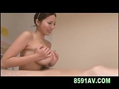 Busty girl gives great titsfuck and blowjob
