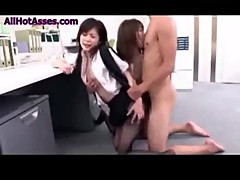 Hot and Horny office japanese girls in pantyhose fucked