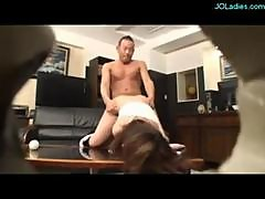 Office Lady With Handcuffs Dominated By 2 Bosses..