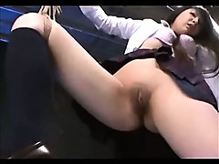 Shaved Asian Bound And Toyed