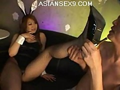 Mai asian model is hot in her bunny outfit