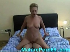 Horny housewife fucks neighbor