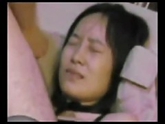 Chinese amateur black stocking slut