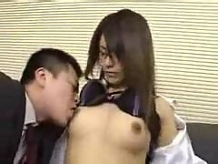 Asian Secretary Get A Cock In Her Hairy Japanese..
