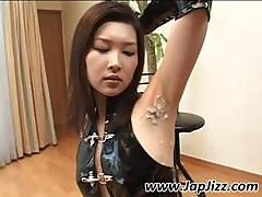 Asian Girl Gets Naked And Shows Where She Got Jizzed On Armpit