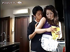 Asian milf at home