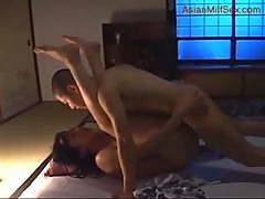 Busty Milf Getting Her Hairy Pussy Fucked By Young Guy Creampie On The Mattress In The Room