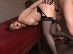 Asian Gets Fingered and Toyed Before Getting Fucked In MMF Threesome