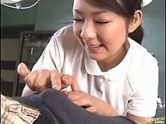 Hot Japanese Nurse Facial Blowjob
