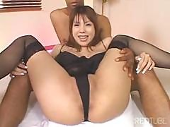 Flimsy Japanese Jumpoff With A Charming Fish Gets Some Cum On Her Face