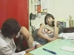 Japanese fucking in the office