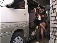 Unlucky asian working woman get bondage and fuck