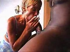 Beatiful Busty French Milf Fucks with a BBC only..