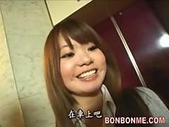 Elevator Russian Roulette teen gives facial..