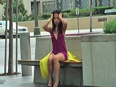 Shameless Asian Masturbating In Public