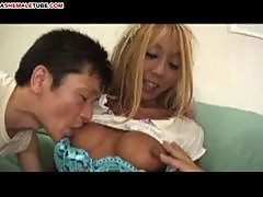 Japanese ladyboy maki hottie fucked