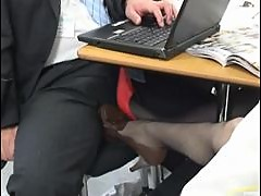 Office Handjob From A Smoking Hot Japanese Babe