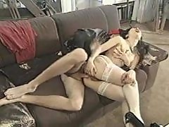 Vintage Asian in white stockings ass fucked