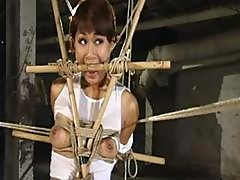 Asain Gal Gets Bound And Bamboo Gagged As She Gets Abused