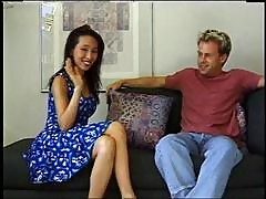 Bamboo arrives in Hawaii and gets her first big hard cock