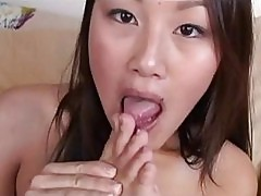 Hot asian sweetheart Evelyn Lin gets her filthy feet jizzed ...